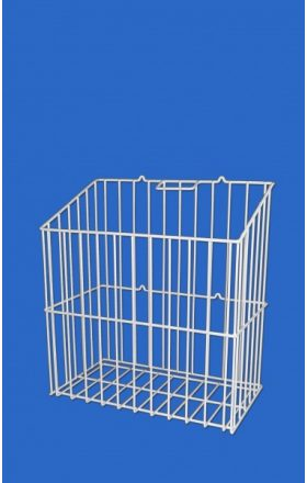 Wire basket for wash with handrail