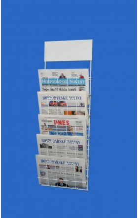 Hanging holder for 5pcs of newspapers
