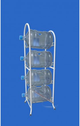 Wire folding holder for barrels III - 4 shelves