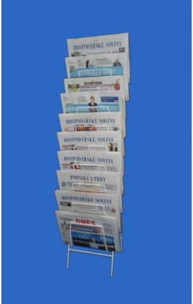 Display for 10 pcs of newspapers