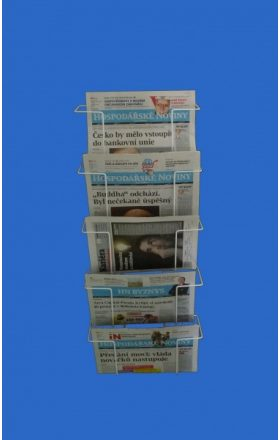 Hanging holder for newspapers 5 pcs