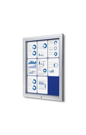 Outdoor Felt Noticeboard - Blue (9xA4)