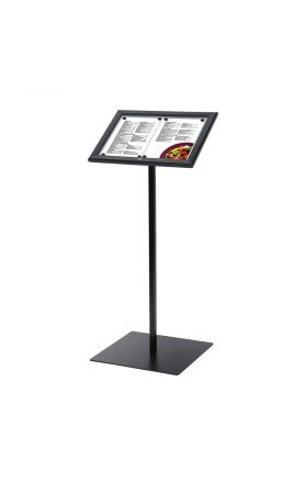 Black Menuboard with 2xA4 showcase, Illuminated
