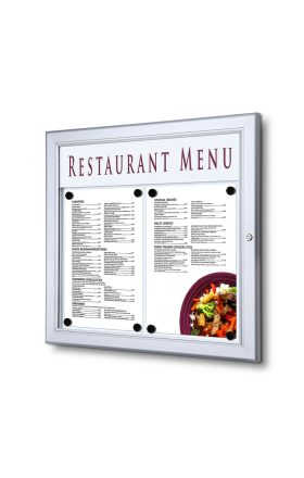 2xA4 Menu Display Case with Logo panel