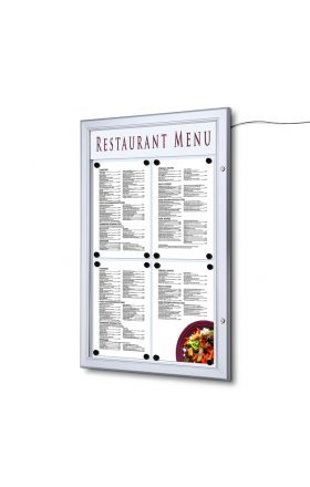 4xA4 LED Menu Display Case with Logo panel