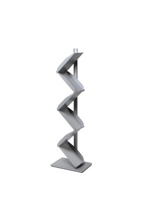 Zig Zag 6x A4 Brochure stand - Silver