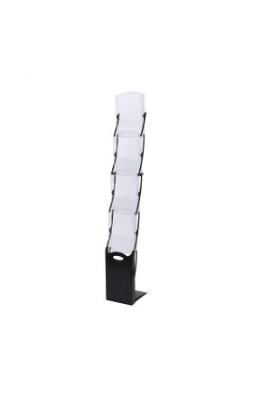 Literature Stand - Foldable - Black