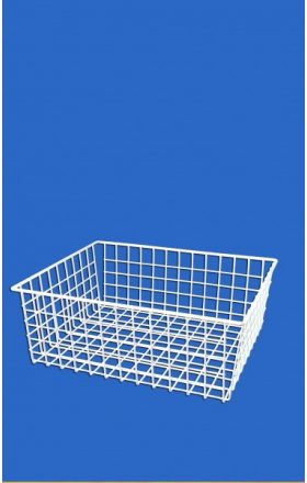 Wire basket into wardrobe